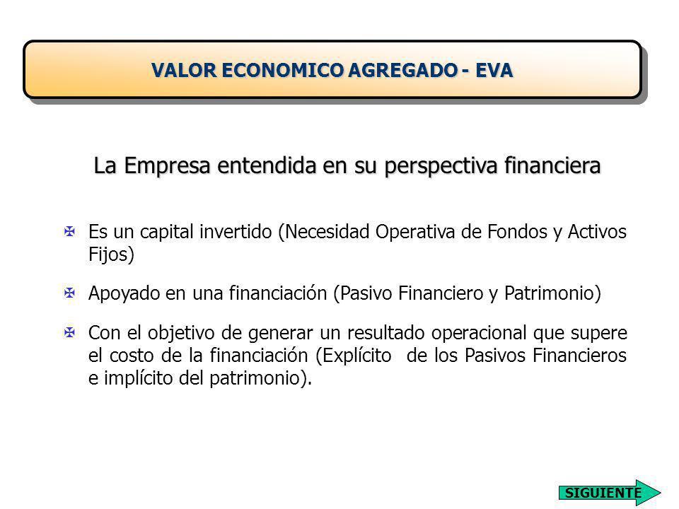 VALOR ECONOMICO AGREGADO - EVA