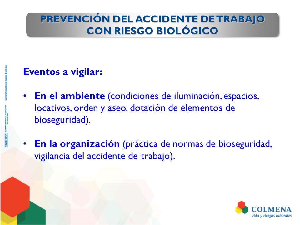 PREVENCIÓN DEL ACCIDENTE DE TRABAJO CON RIESGO BIOLÓGICO