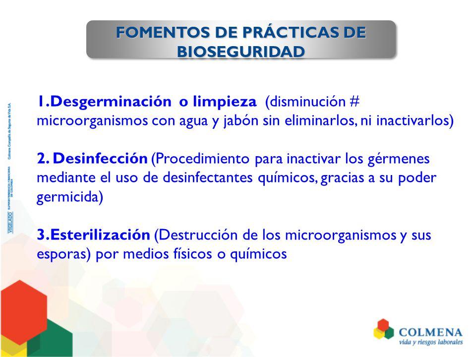 FOMENTOS DE PRÁCTICAS DE BIOSEGURIDAD