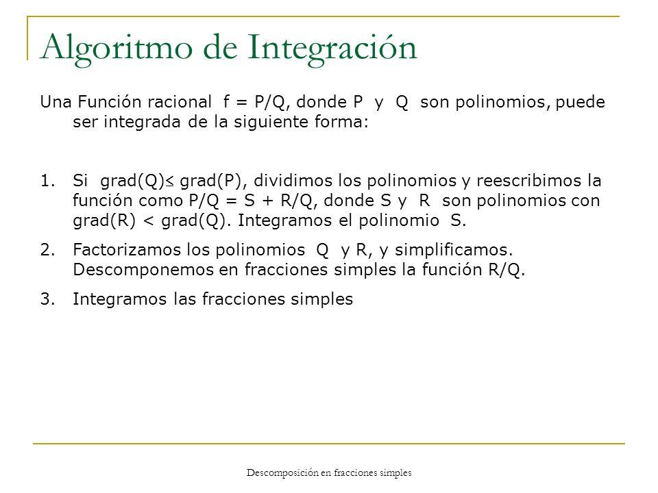 Algoritmo de Integración