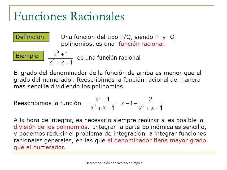 Descomposición en fracciones simples