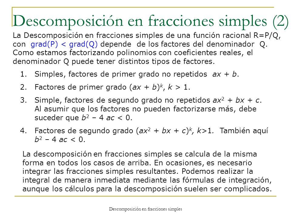 Descomposición en fracciones simples (2)