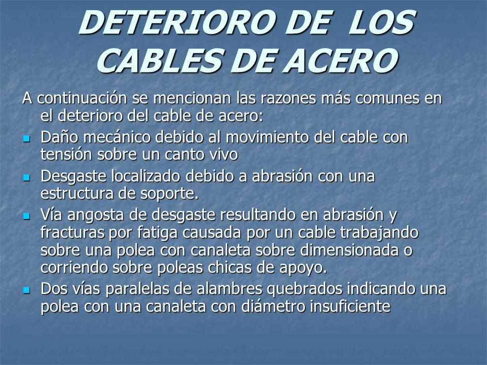 DETERIORO DE LOS CABLES DE ACERO