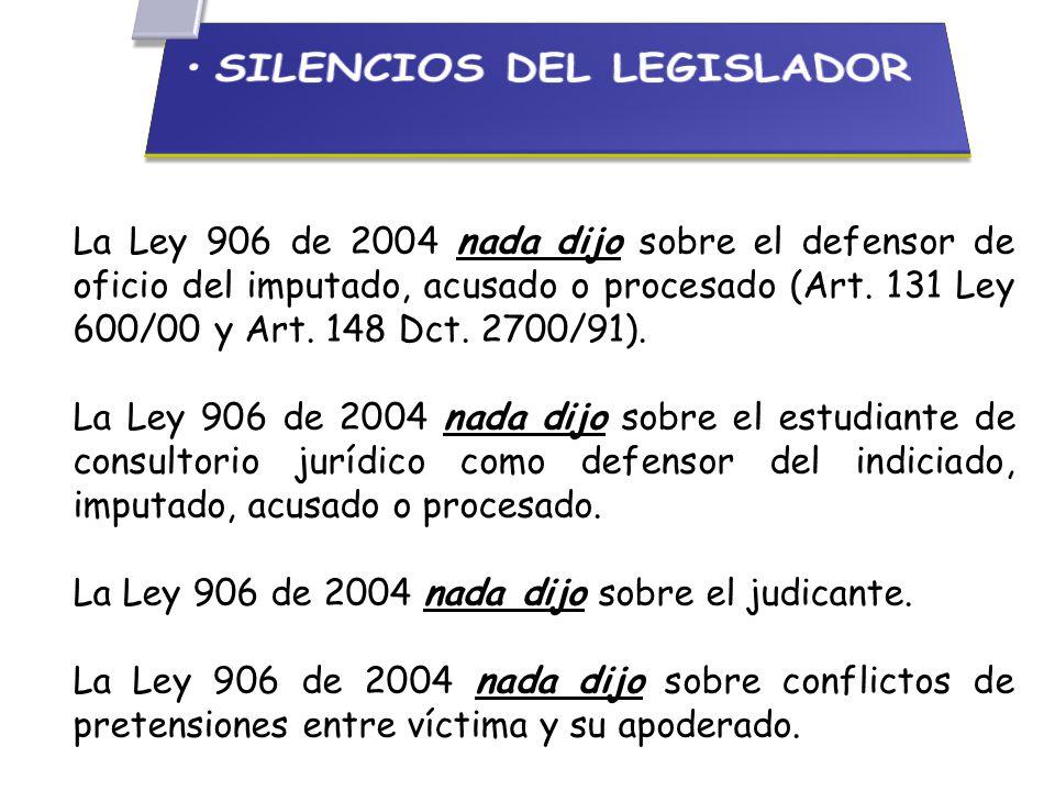 SILENCIOS DEL LEGISLADOR