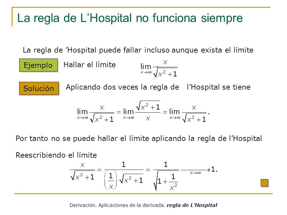 La regla de L'Hospital no funciona siempre