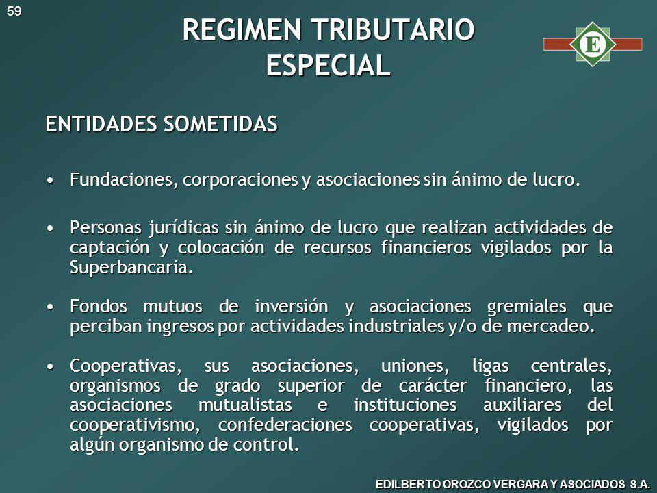 REGIMEN TRIBUTARIO ESPECIAL