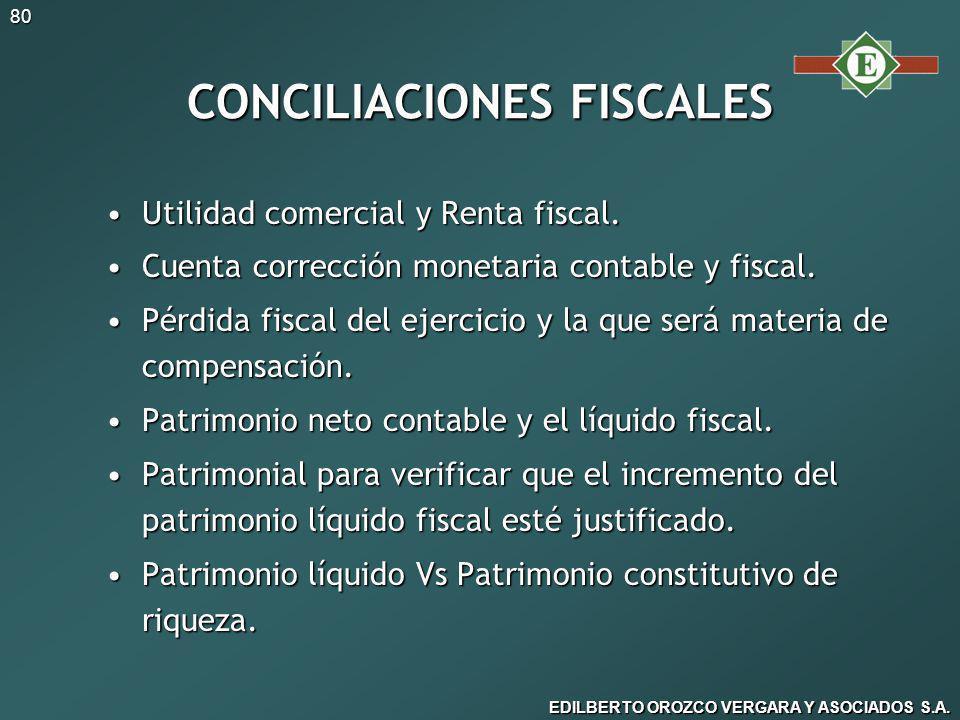 CONCILIACIONES FISCALES