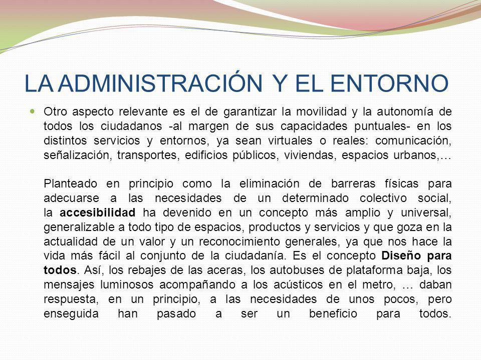 LA ADMINISTRACIÓN Y EL ENTORNO