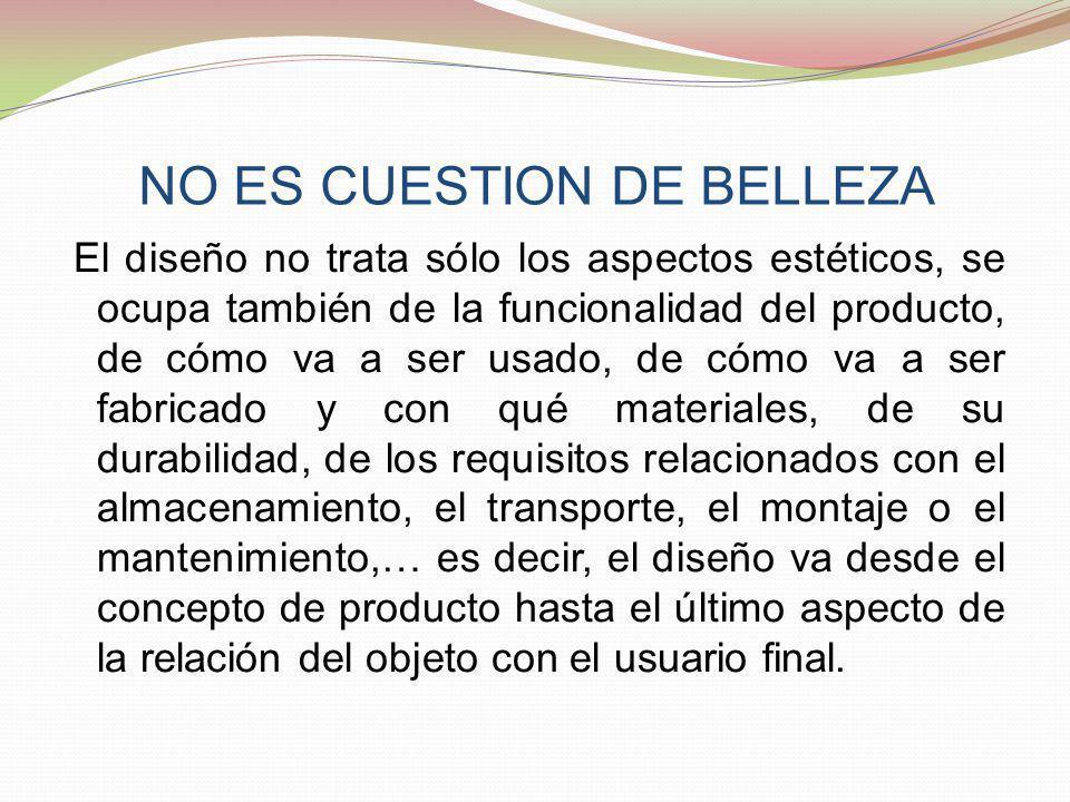 NO ES CUESTION DE BELLEZA