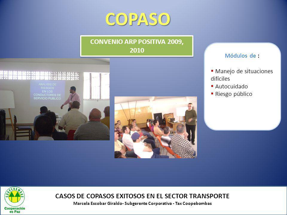 COPASO CONVENIO ARP POSITIVA 2009, 2010