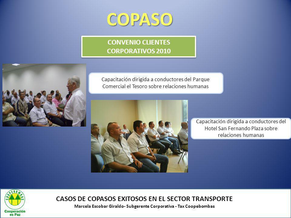 COPASO CONVENIO CLIENTES CORPORATIVOS 2010