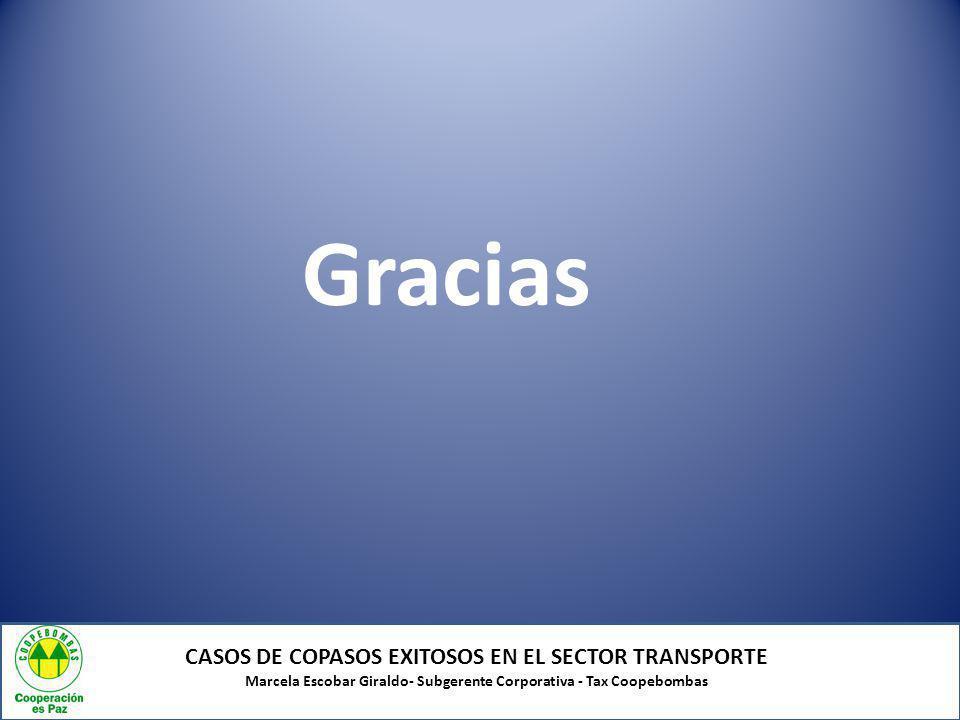 Gracias CASOS DE COPASOS EXITOSOS EN EL SECTOR TRANSPORTE
