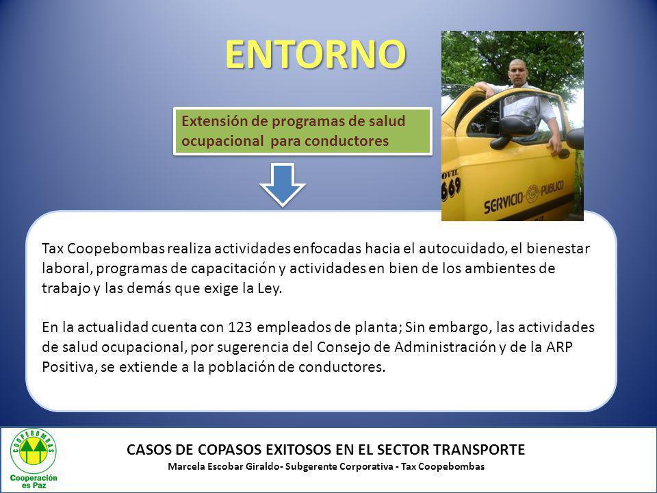 ENTORNO Extensión de programas de salud ocupacional para conductores