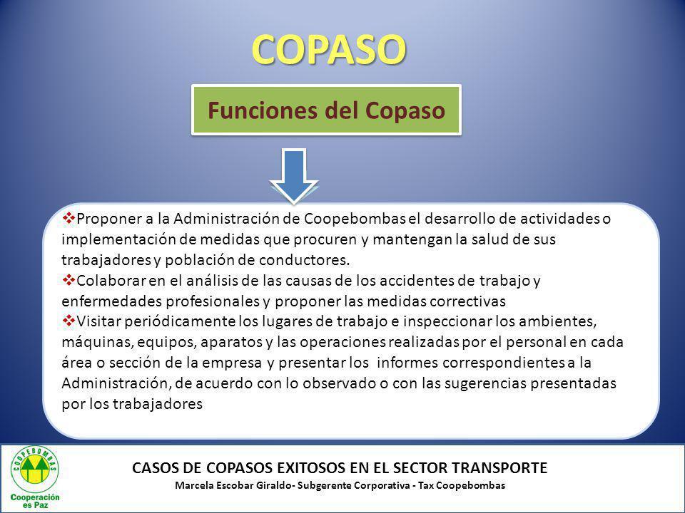 COPASO Funciones del Copaso