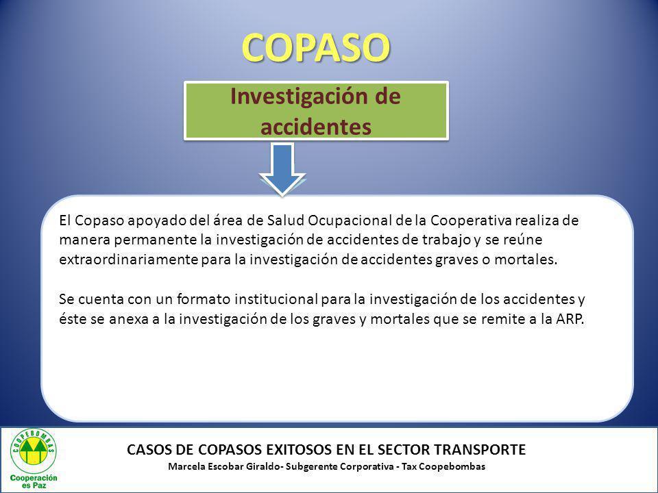 COPASO Investigación de accidentes