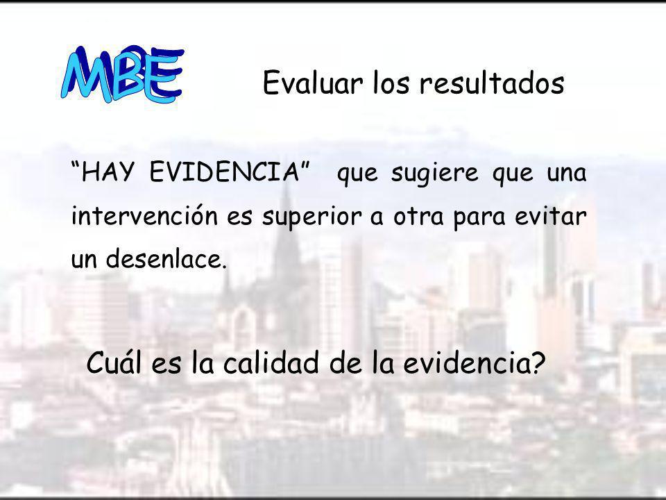 Cuál es la calidad de la evidencia