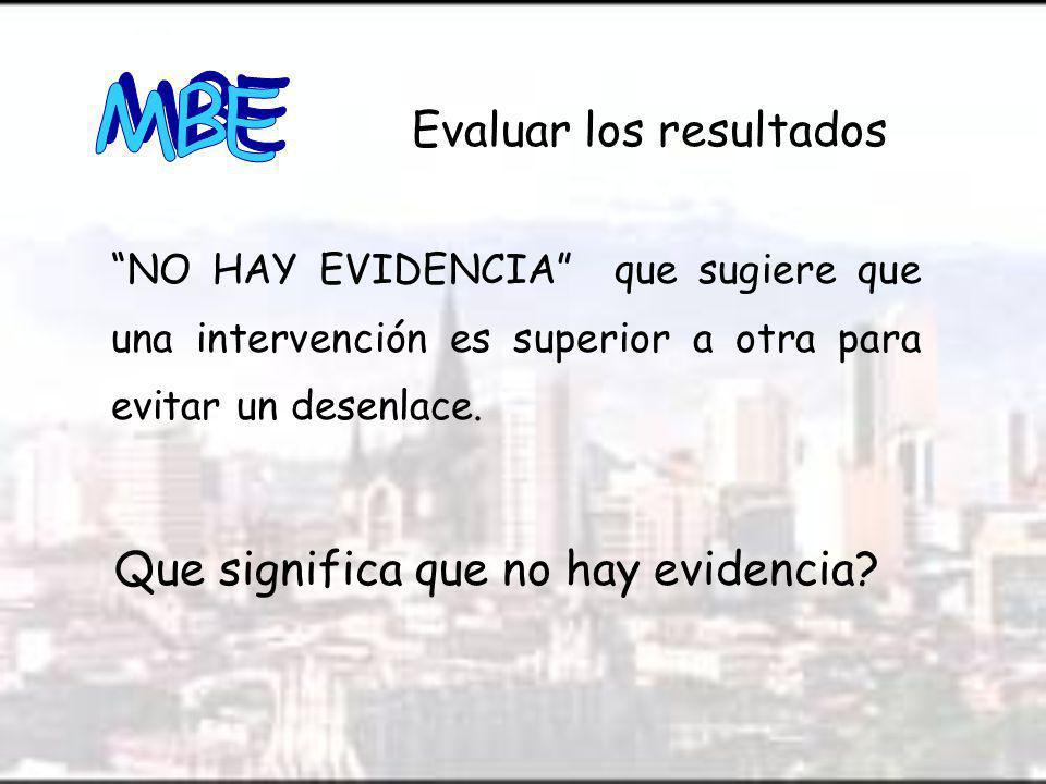 Que significa que no hay evidencia
