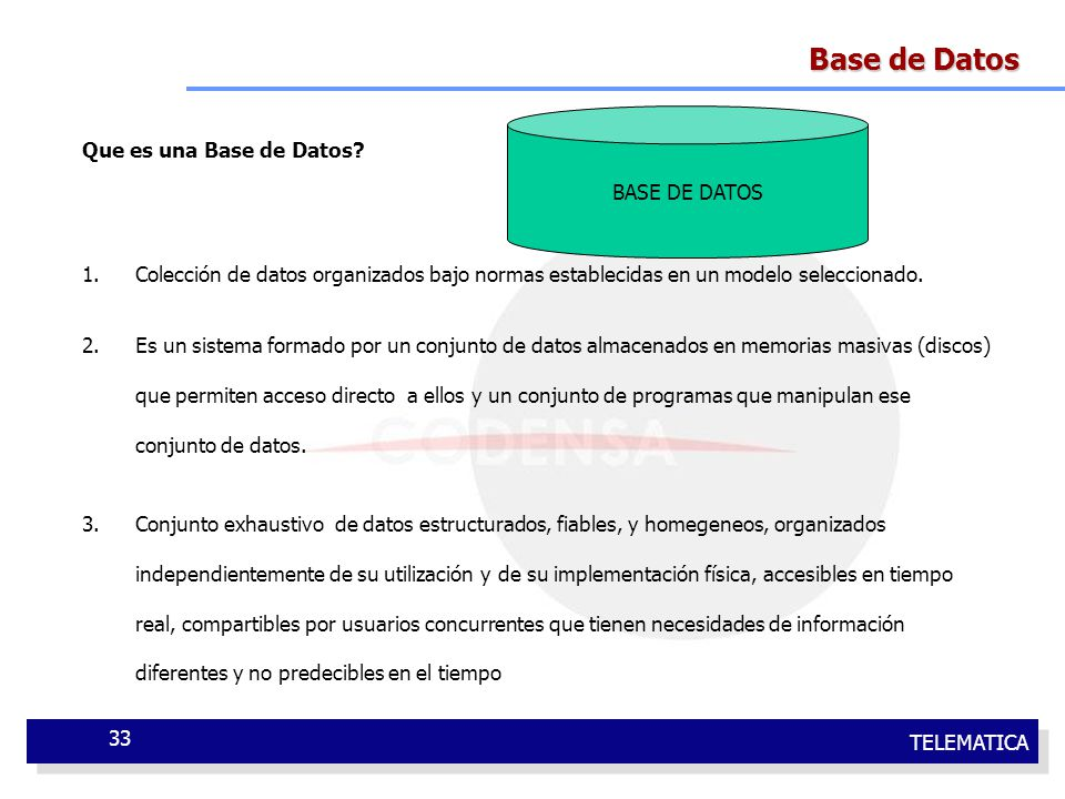 Base de Datos Que es una Base de Datos BASE DE DATOS