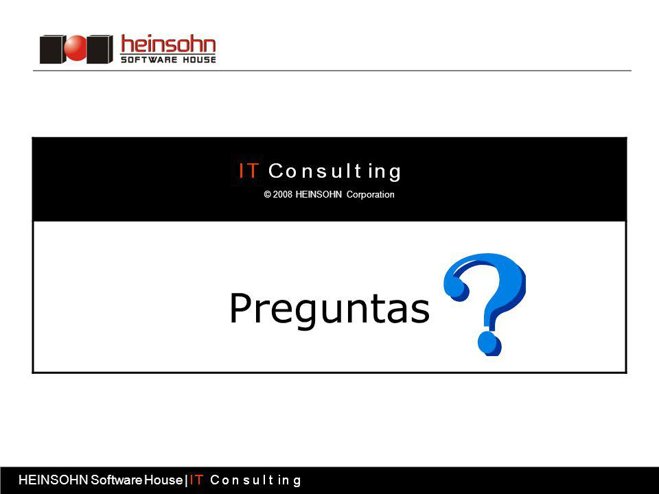 Preguntas © 2008 HEINSOHN Corporation