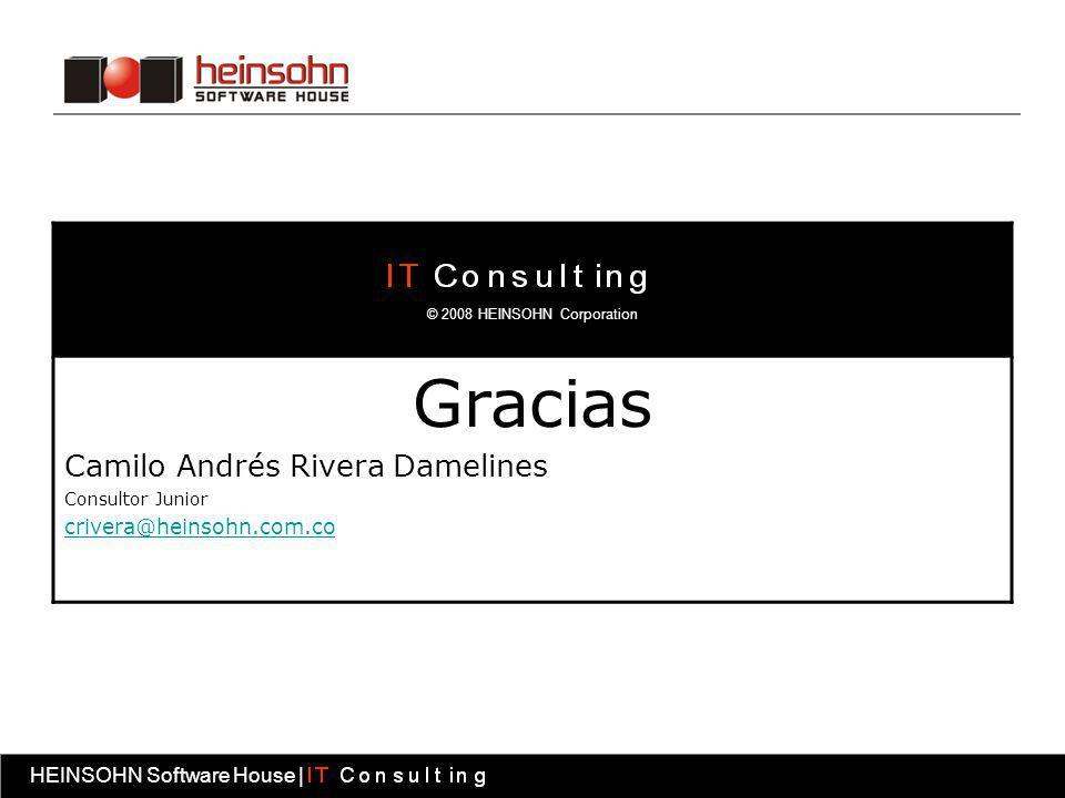Gracias Camilo Andrés Rivera Damelines crivera@heinsohn.com.co