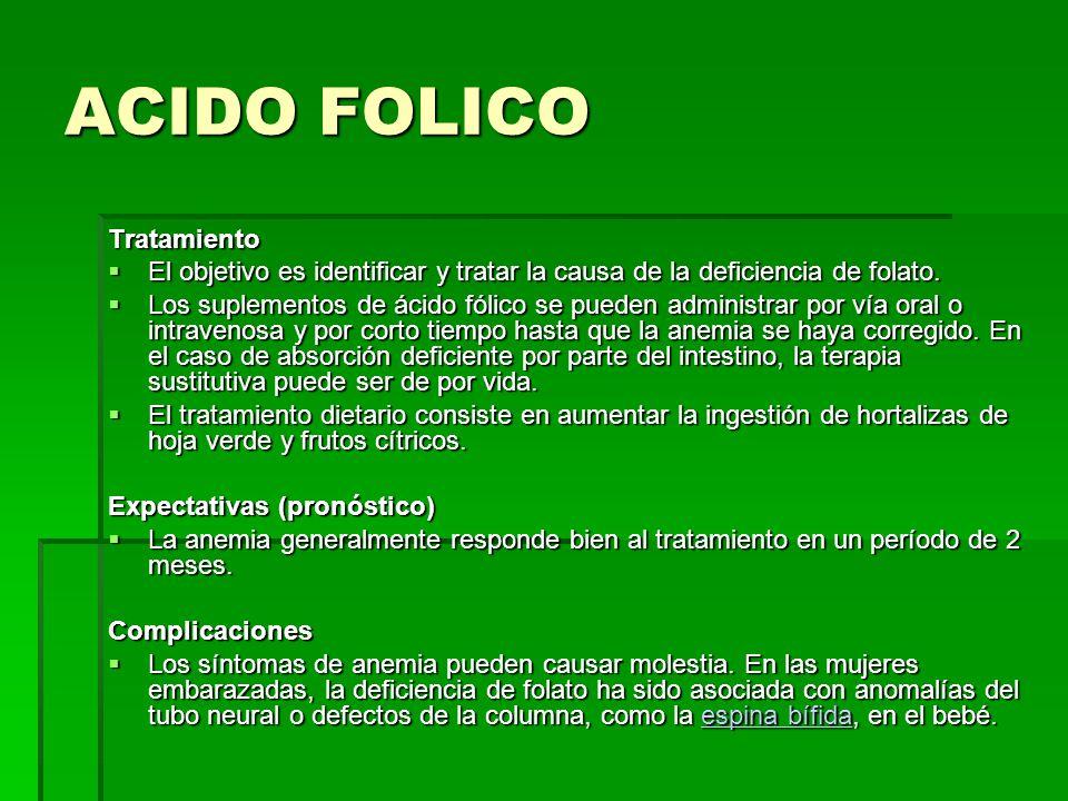 ACIDO FOLICO Tratamiento