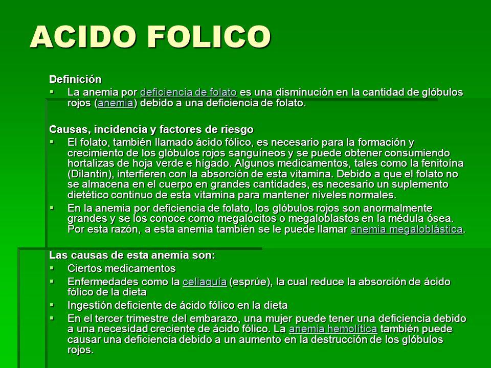 ACIDO FOLICO Definición