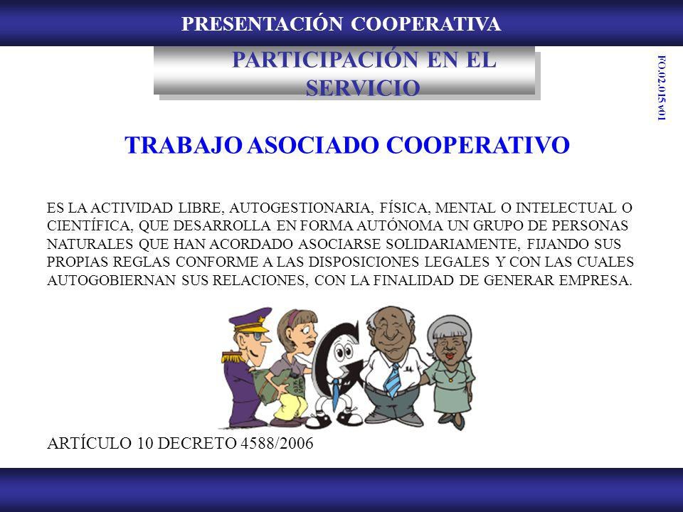 PRESENTACIÓN COOPERATIVA TRABAJO ASOCIADO COOPERATIVO