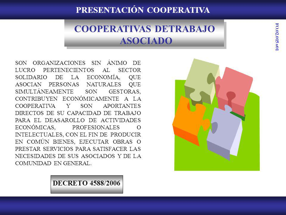 PRESENTACIÓN COOPERATIVA COOPERATIVAS DETRABAJO