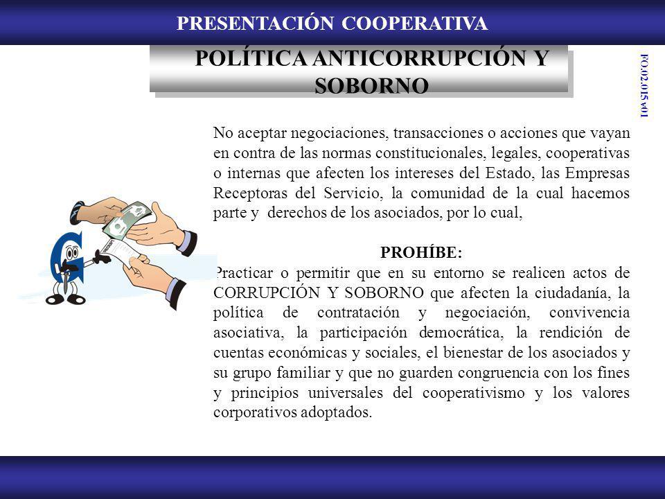 PRESENTACIÓN COOPERATIVA POLÍTICA ANTICORRUPCIÓN Y