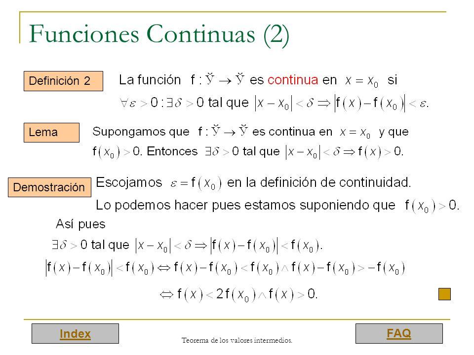 Funciones Continuas (2)