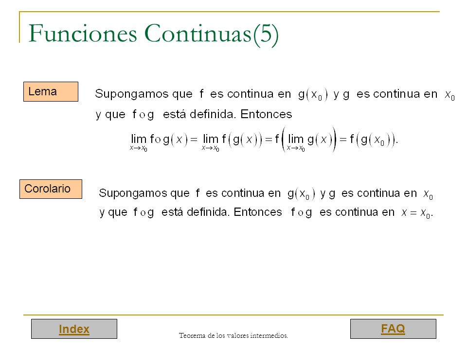 Funciones Continuas(5)