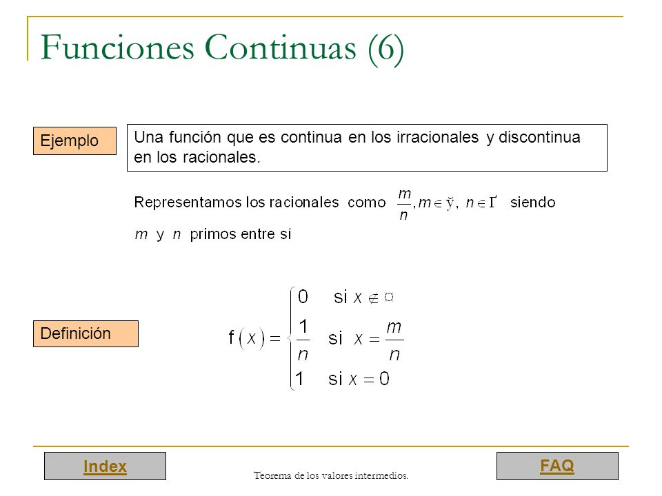 Funciones Continuas (6)