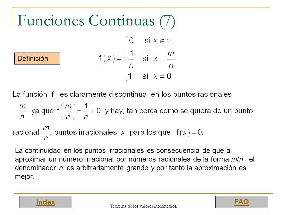Funciones Continuas (7)