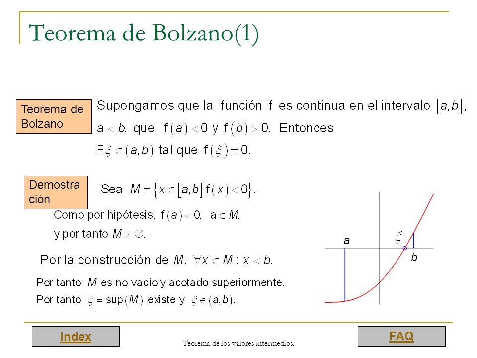 Teorema de los valores intermedios.