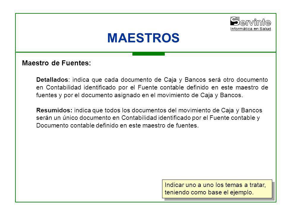 MAESTROS Maestro de Fuentes: