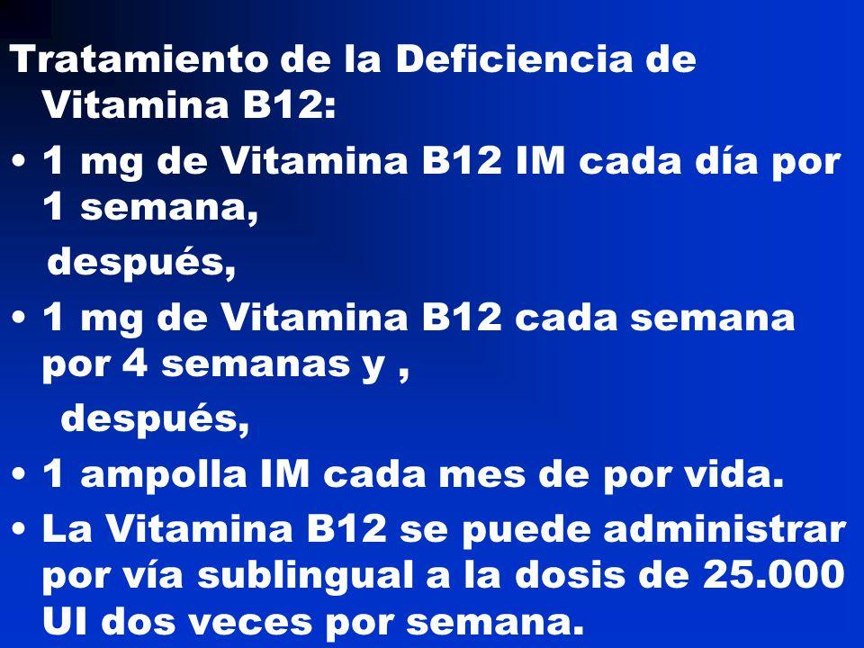 Tratamiento de la Deficiencia de Vitamina B12: