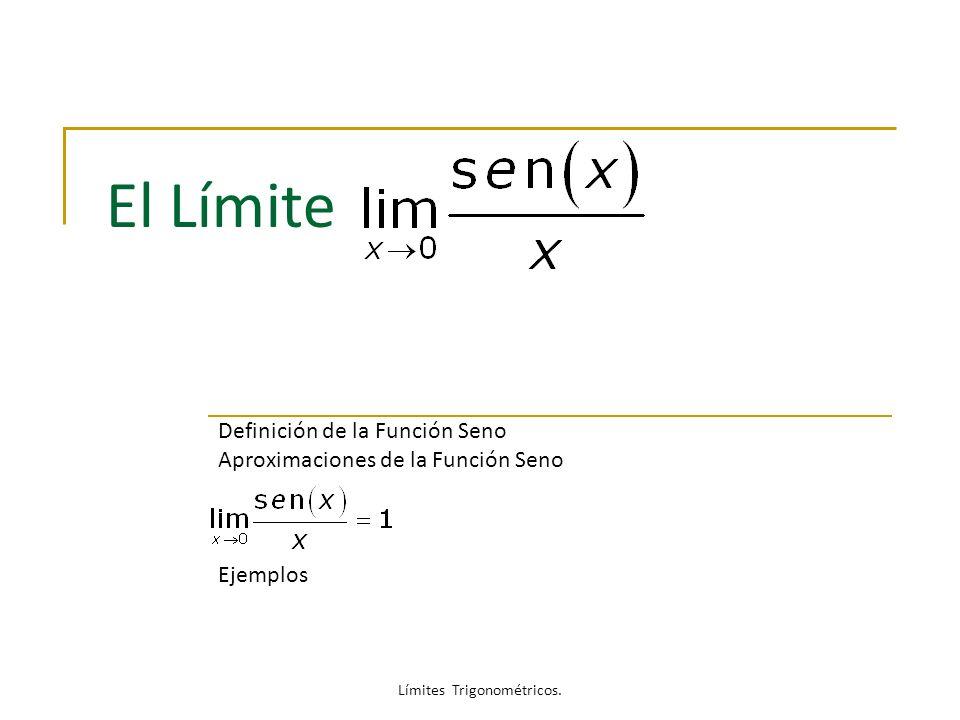 Límites Trigonométricos.