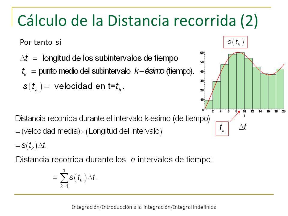 Cálculo de la Distancia recorrida (2)