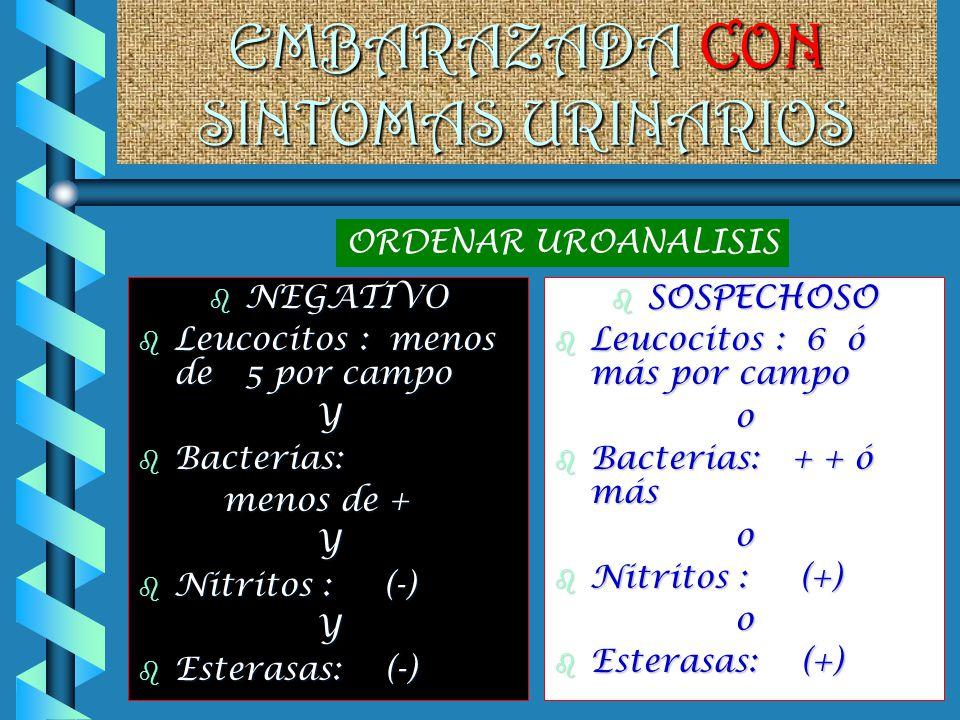 EMBARAZADA CON SINTOMAS URINARIOS