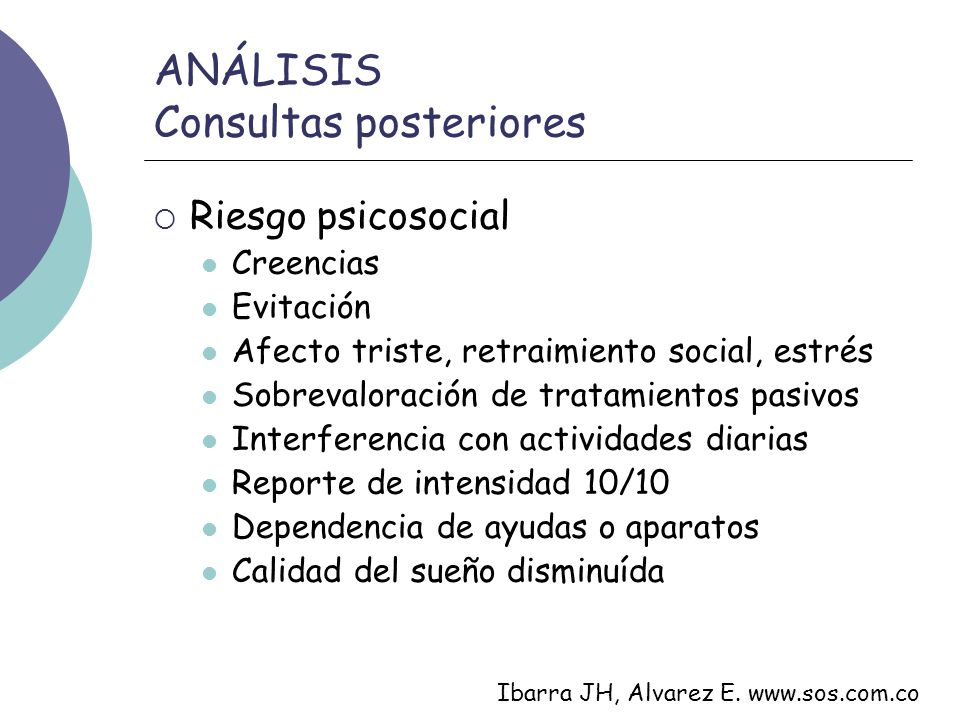 ANÁLISIS Consultas posteriores
