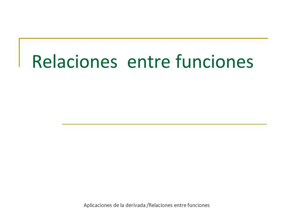 Relaciones entre funciones