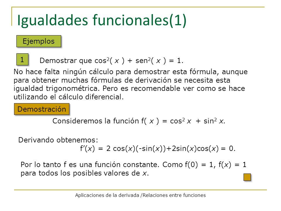 Igualdades funcionales(1)