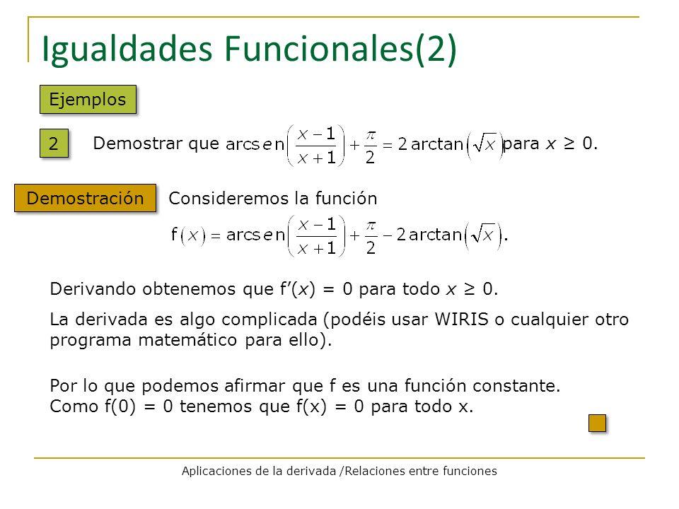 Igualdades Funcionales(2)