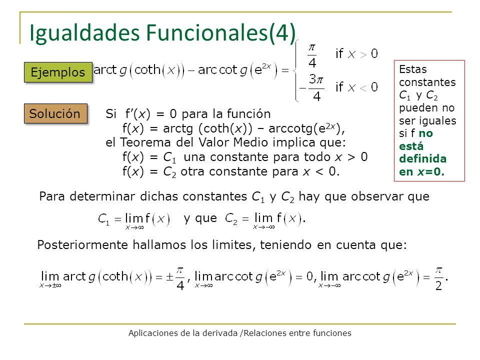 Igualdades Funcionales(4)