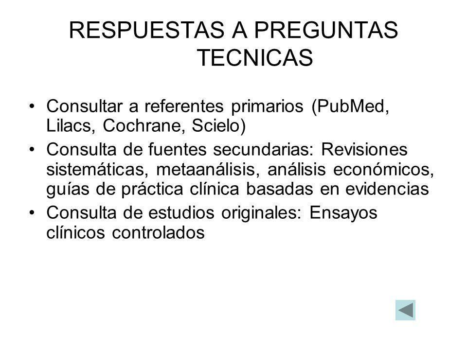 RESPUESTAS A PREGUNTAS TECNICAS