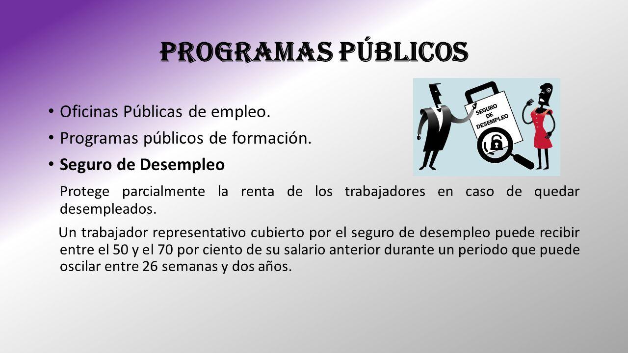 PROGRAMAS PÚBLICOS Oficinas Públicas de empleo.