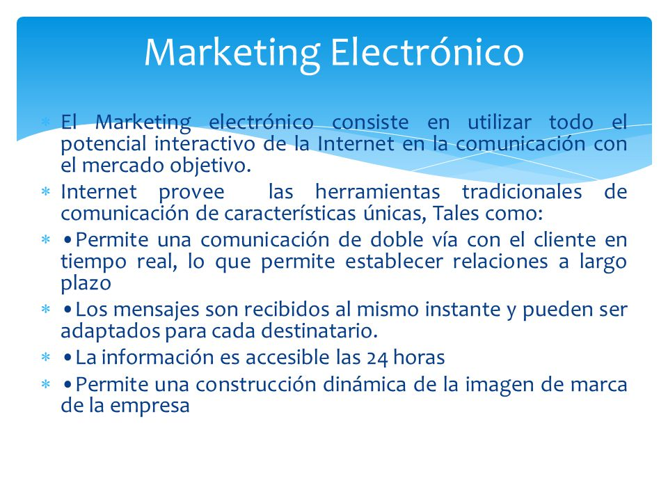 Marketing Electrónico