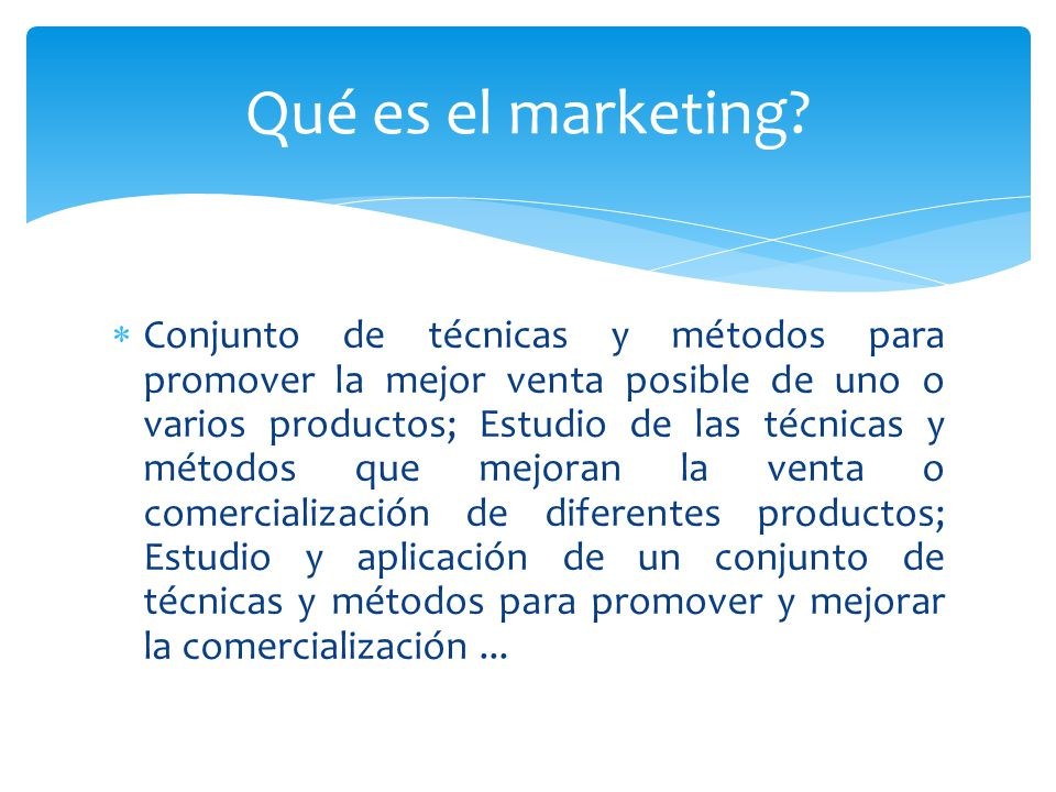 Qué es el marketing