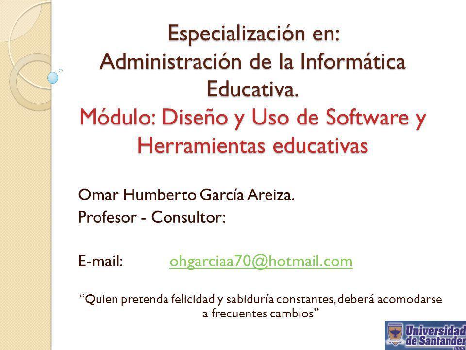 Especialización en: Administración de la Informática Educativa
