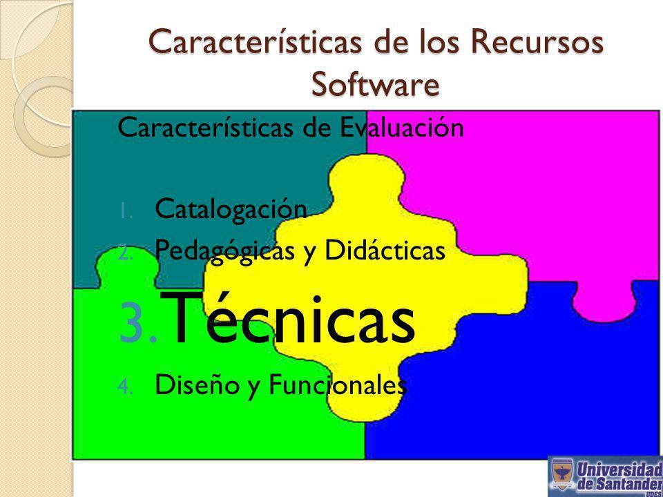 Características de los Recursos Software